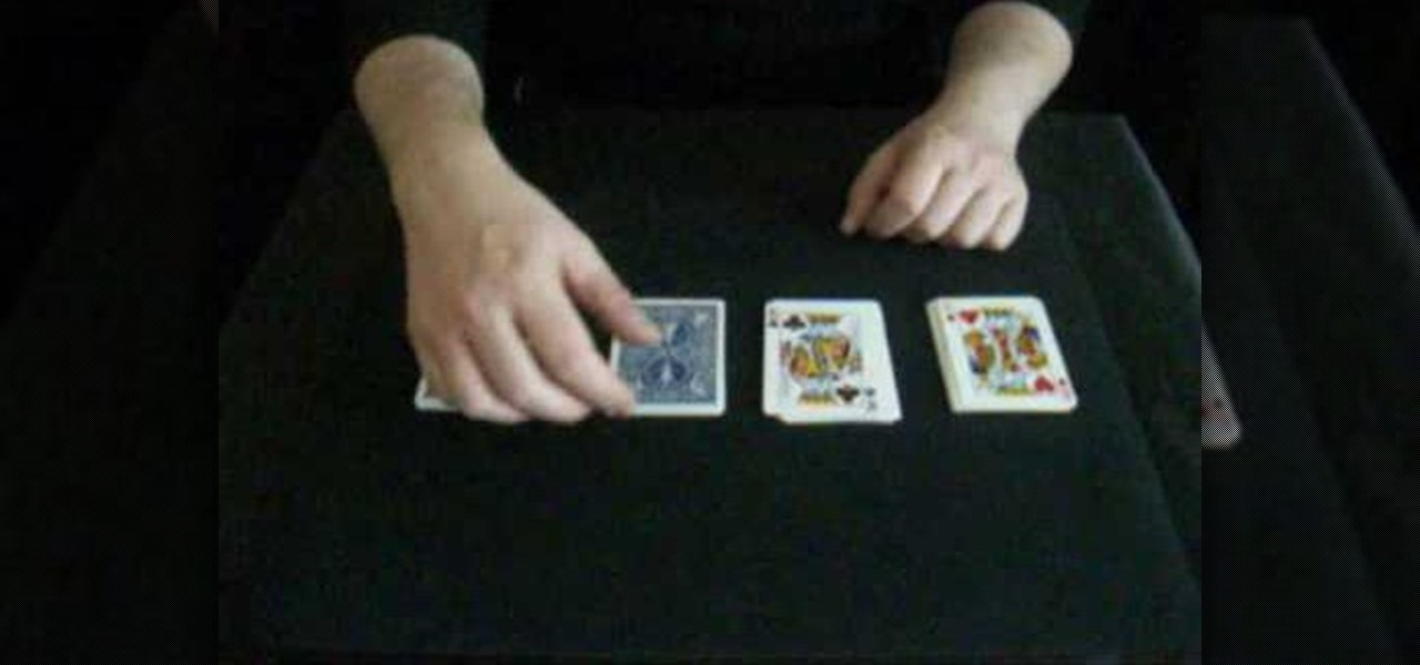 Poker tricks with cards