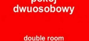 "Say ""double room"" in Polish"