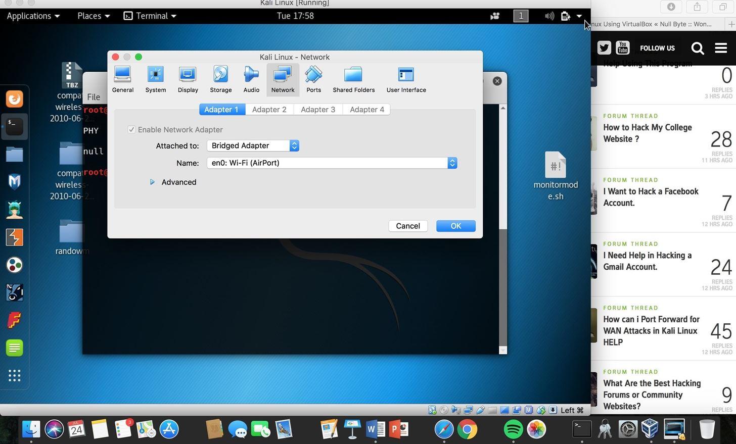 Kali Linux in Virtual Box Help