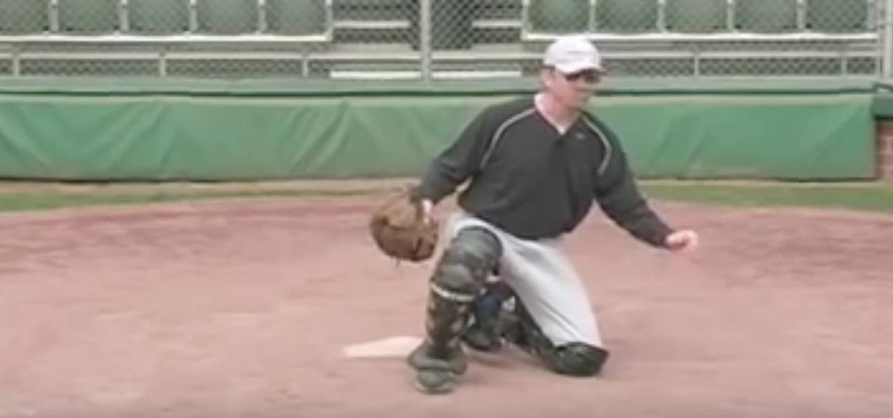 Coach Young Baseball Catchers Home Plate Blocking