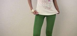 Make fashionable leggings with minimal sewing