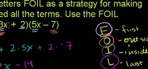 Multiply polynomials with the FOIL method