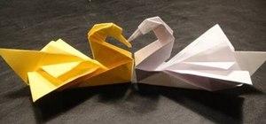 Fold an elegant origami swan by Robert J. Lang