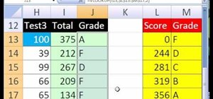 Create a grade book based on a total score in MS Excel