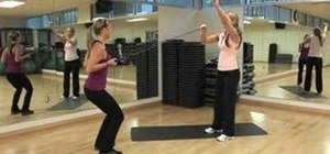 Tone arms and core with exercise bands and a partner