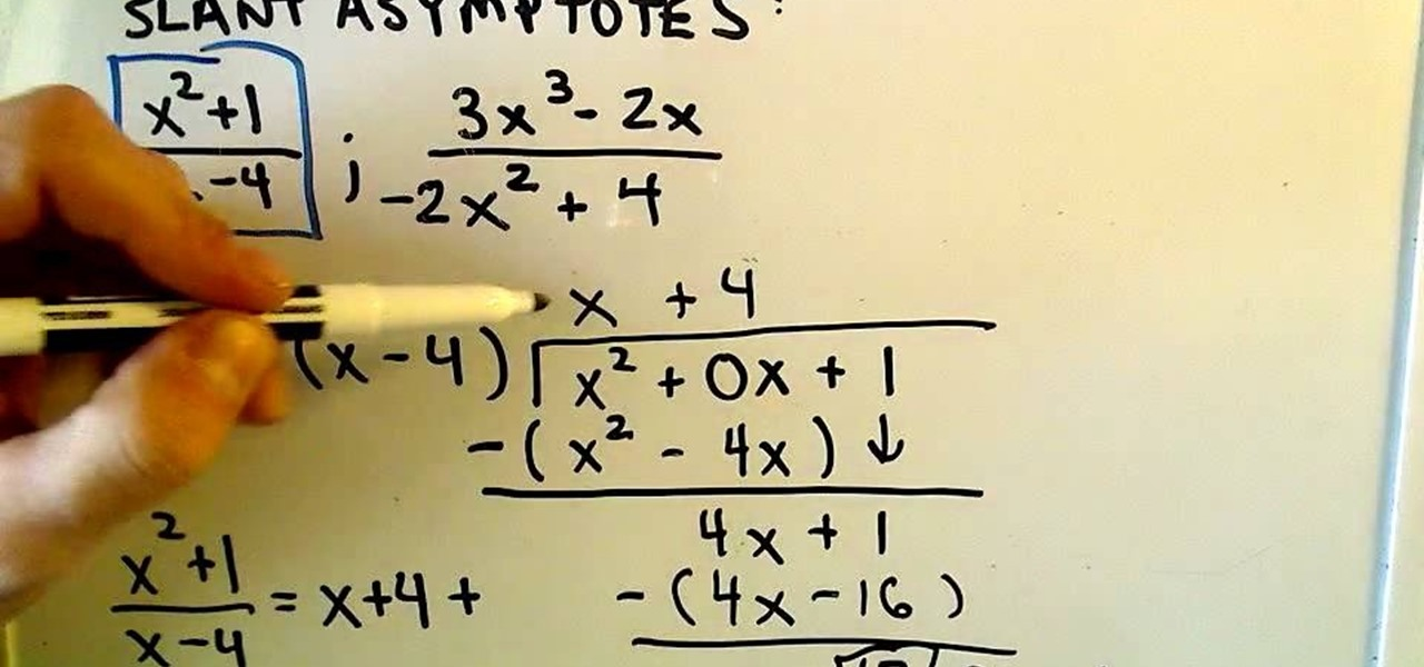 How to Find the slant asymptote of a rational function « Math