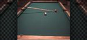 Position the cue ball for a side pocket shot