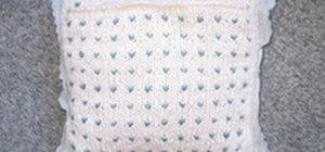 Make a Pillow Using a Vintage Handkerchief