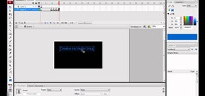 Make basic moving text in Adobe Flash