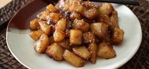 Make a Korean potato side dish