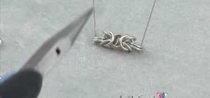 Bead a byzantine chain for jewelry