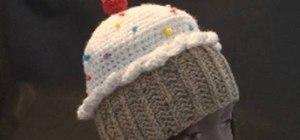 Crochet a cupcake hat