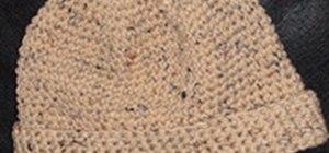 Crochet a larger-sized beanie cap for a man