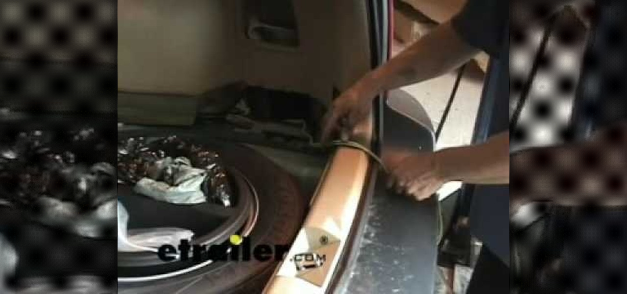How to Install a trailer wiring harness on a Subaru Forester Car