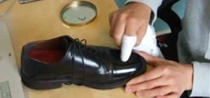 Shine your shoes with a shoe polish rag