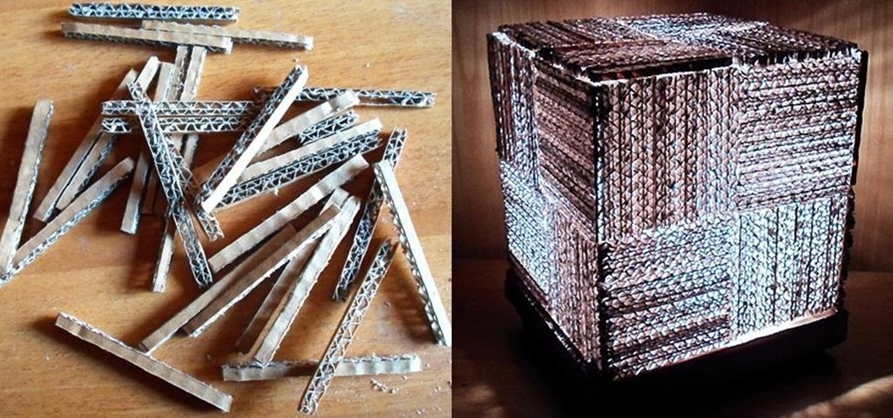 Recycle Your Junk Cardboard Boxes into a Super Simple & Stylish Cube Lamp