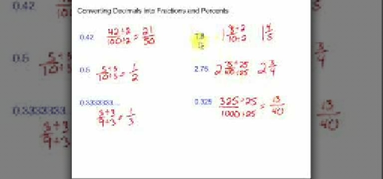 how to change fractions into percentages
