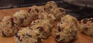 Make wild rice & cranberry stuffing balls