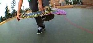 Do a casper flip on a skateboard
