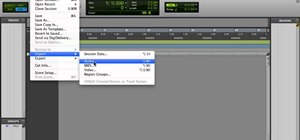 Import an audio track from a CD in Pro Tools 9