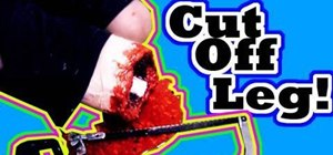 Make a Gory Cut-Off Leg Special Effect
