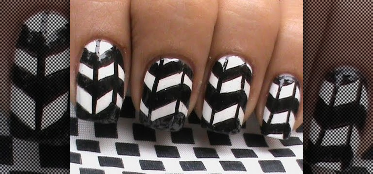 Do Black and White Pattern Nails