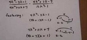 Divide rational expressions containing trinomials
