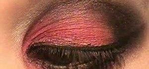 Create a dramatic burgundy & black smoky eye look