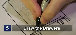 Draw a cartoon dresser
