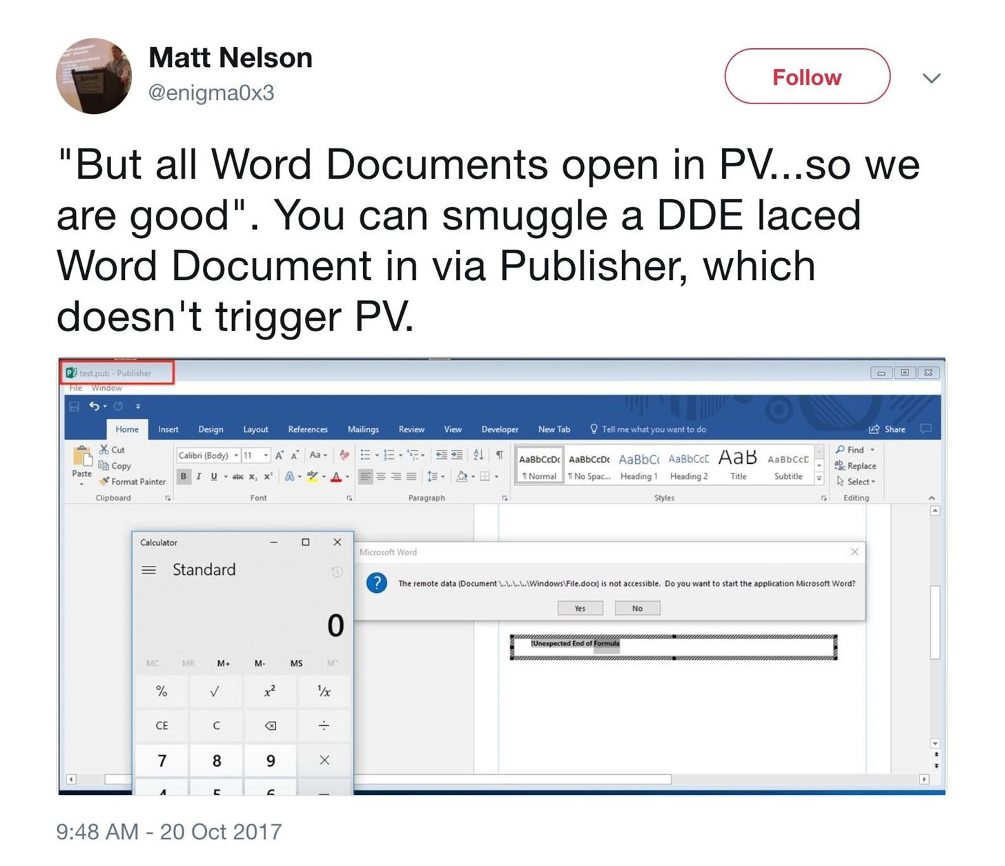 How to hide dde based attacks in ms word null byte wonderhowto image by enigma0x3twitter biocorpaavc