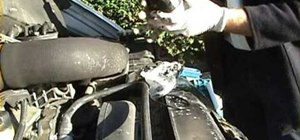 Change the engine and oil filter on a Mercedes car