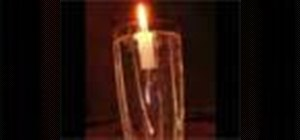Makea floating candle for decoration