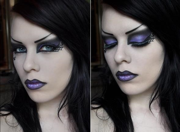 Rock Witch Makeup Look for