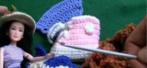 Crochet a 2 tog increase pattern for right handers
