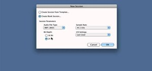 Create a new session in Pro Tools 9