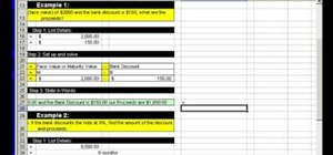Make discount & proceed calculations in MS Excel