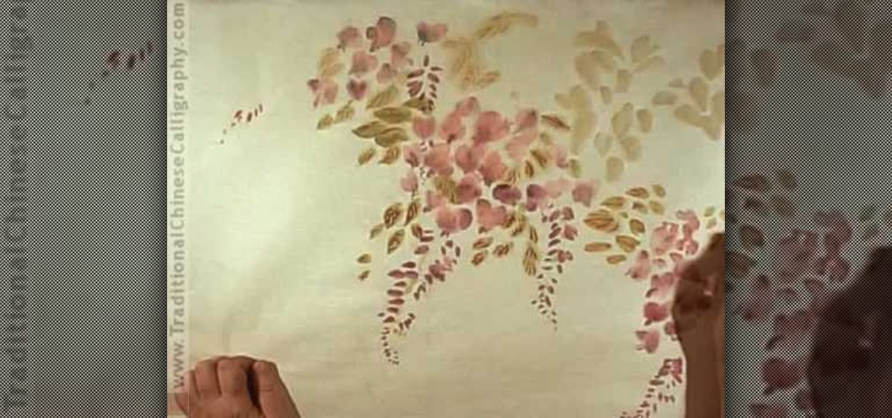 How To Draw A Wisteria Shrub Chinese Brush Painting