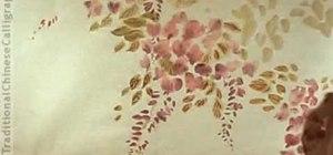 Draw a wisteria shrub - Chinese brush painting