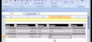 how to create an inventory database in excel