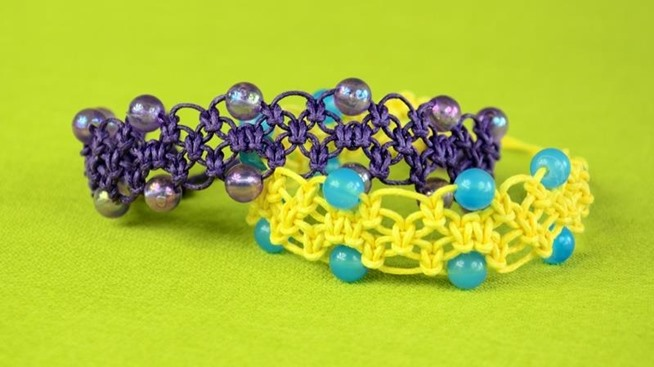 How to make a Celtic Style Macrame Bracelet with beads using Square ...