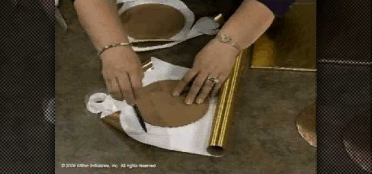How To Cover A Cake Board With Foil