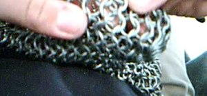 Attach a chain sleeve to a chainmail shirt