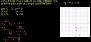 Converting linear equations to slope-intercept form