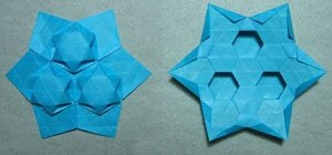 Origami a tessellation star puff