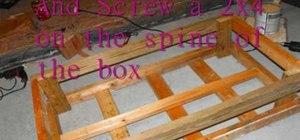 Make a skate grind box