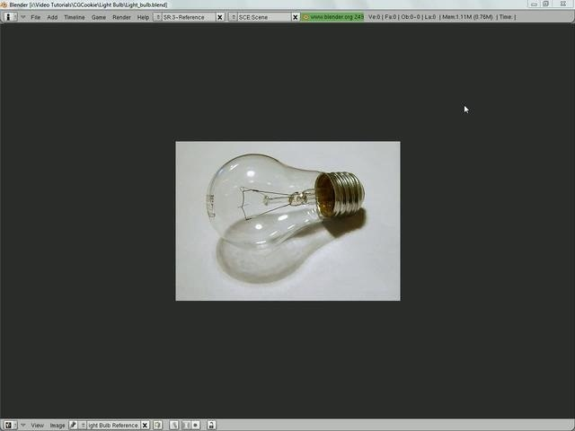 Model a 3D light bulb in Blender 2.5 - Part 1 of 2
