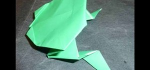 Make an easy back flipping origami frog for beginners