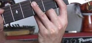 Play A shape barré chords on the guitar