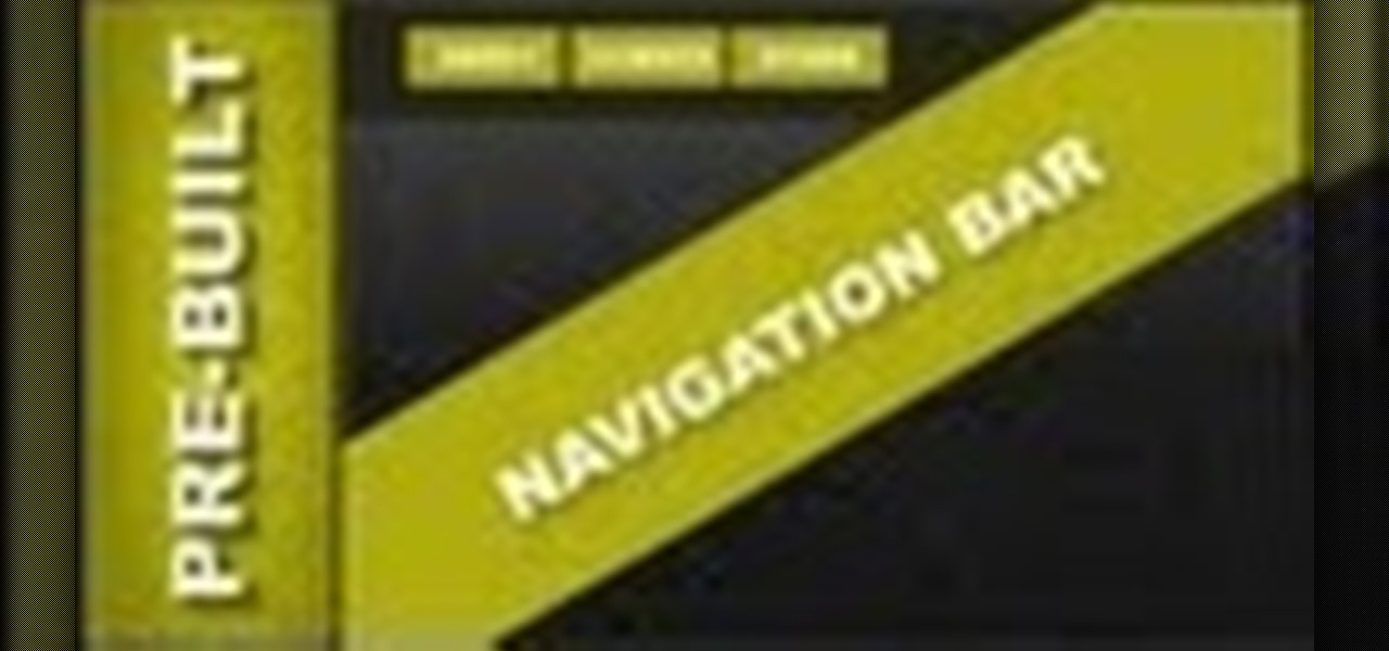Pre-Built Navigation Menu Bars for Xara Web Designer