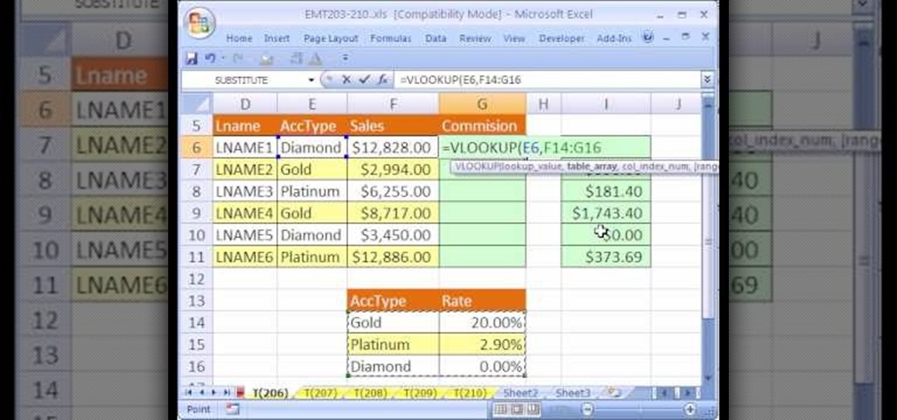 How To Calculate Commissions With Excel S Vlookup Function Microsoft Office Wonderhowto